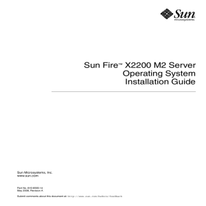 Sun Fire X2200 M2 Server Operating System Installation Guide