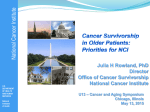Who is a Cancer Survivor? - Cancer and Aging Research Group