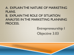A. Explain the nature of marketing plans. B. Explain the role