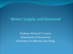 Lecture4 - Water Economics - University of California San Diego