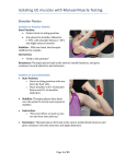 Isolating UE muscles with Manual Muscle Testing