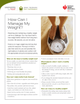 How Can I Manage My Weight? - American Heart Association