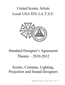 Standard Designer`s Agreement