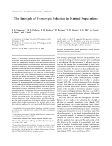 The Strength of Phenotypic Selection in Natural