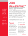 Top 10 things you need to know about Avaya Fabric Connect