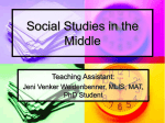 Social Studies in the Middle
