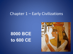 Chapter 1 * Early Civilizations