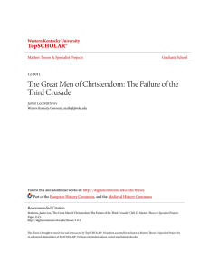 The Great Men of Christendom: The Failure of the Third Crusade