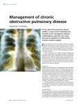 Management of chronic obstructive pulmonary