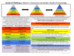 Levels of Thinking in Bloom`s Taxonomy and Webb`s Depth