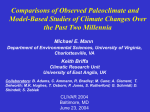 Comparisons of Observed Paleoclimate and Model