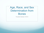 11/5 Age, Sex, and Race determination from Bones Notes