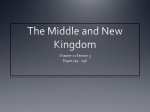 The Middle and New Kingdom