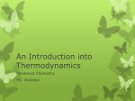 Thermochemistry - Waterford Public Schools
