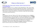 What is Web Service