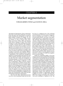 Market segmentation - Wharton Faculty