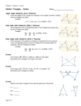 Similar Triangles – Notes Name