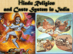 Hindu Religion and Caste System in India