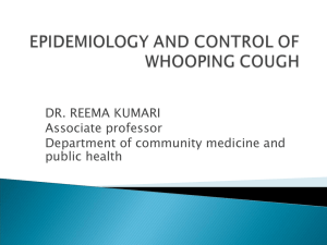 Epidemiology And Control Of Whooping Cough