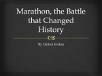Marathon, the Battle that Changed History