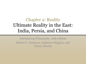 Ultimate Reality in the East: India, Persia, and China