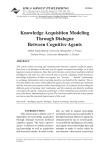 Knowledge Acquisition Modeling Through Dialogue Between