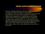 IRON SUPPLEMENTATION - Ideal Cures Pvt. Ltd.