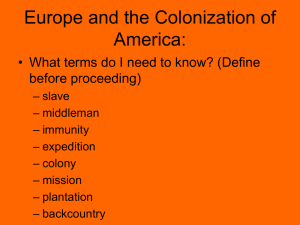 Europe and the Colonization of America