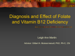 Diagnosis and Effect of Folate and Vitamin B12 Deficiency in the body