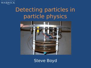 Detecting particles in particle physics