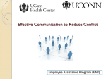 Effective Communication for Reducing Conflict