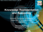 Knowledge Representation and Reasoning - on AI-MAS