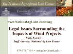 limiting wind farm liability - Department of Agricultural Economics