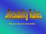 Divisibility Rules - Go Figure-