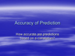 Accuracy of Prediction