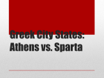 Greek City States: Athens vs. Sparta