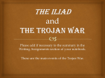 The Iliad and The Trojan War