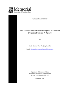 The Use of Computational Intelligence in Intrusion Detection Systems
