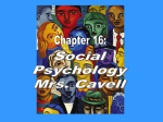 Focuses in Social Psychology