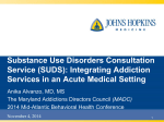 Substance Use Disorders Consultation Service