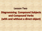 Diagramming Compound Subjects and Verbs