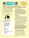 Mrs. Kleinberg`s World History class