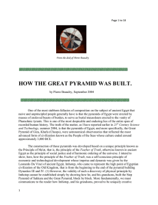 HOW THE GREAT PYRAMID WAS BUILT.