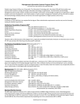 Management Information Systems Program Sheet