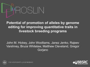 Potential of promotion of alleles by genome editing for improving