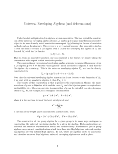 Universal Enveloping Algebras (and