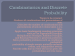 Combinatorics and Discrete Probability