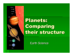 Planets: Comparing their structure