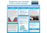 Supportive Care Strategy: A clear united message
