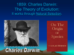 1859: Charles Darwin: The Theory of Evolution: